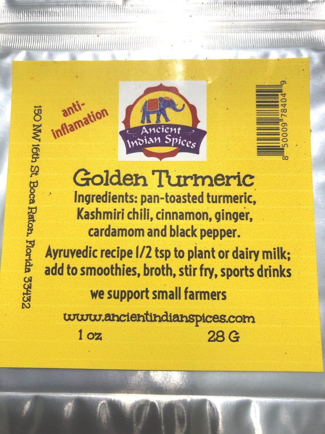 GOLDEN TURMERIC 2 OZ.