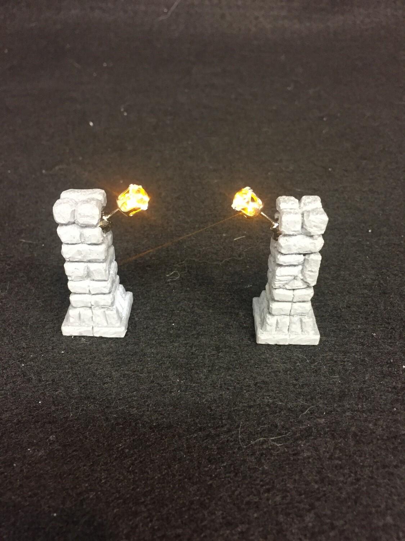 A pair of L.E.D. Light-Up Columns