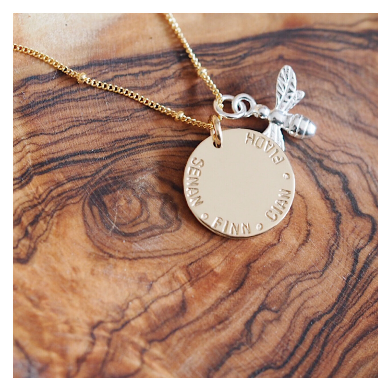 Design Your Own Personalised Necklace - MIDI DISCS