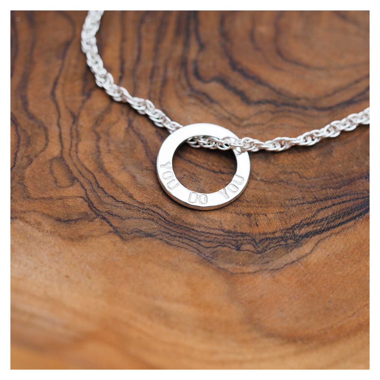 Sterling Silver Small Washer Bracelet