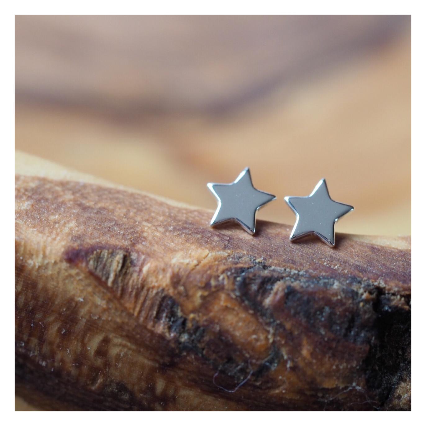 Sterling Silver Star Earrings