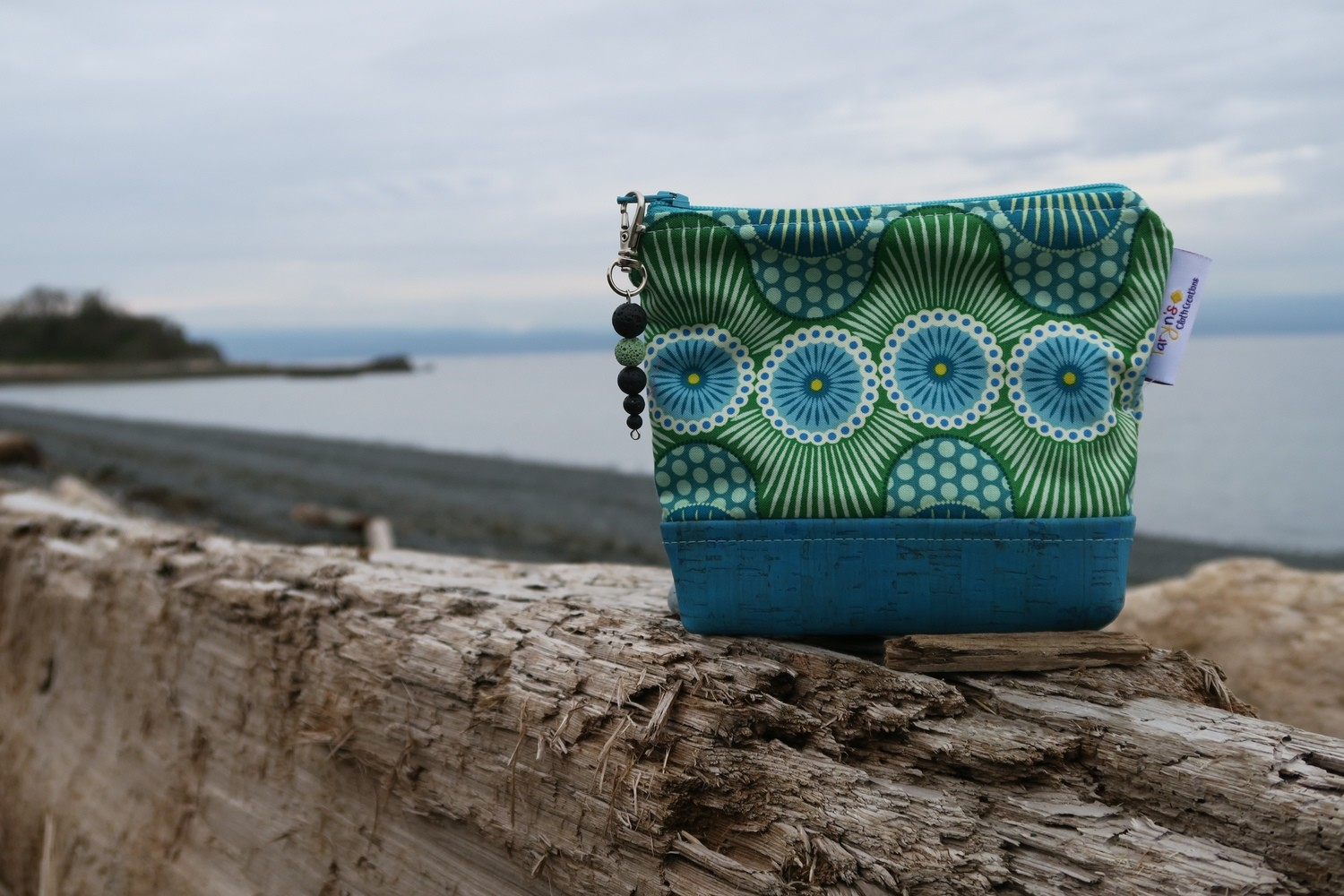 Small Carry Case -Green Waves