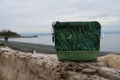 Small Carry Case -green swirl