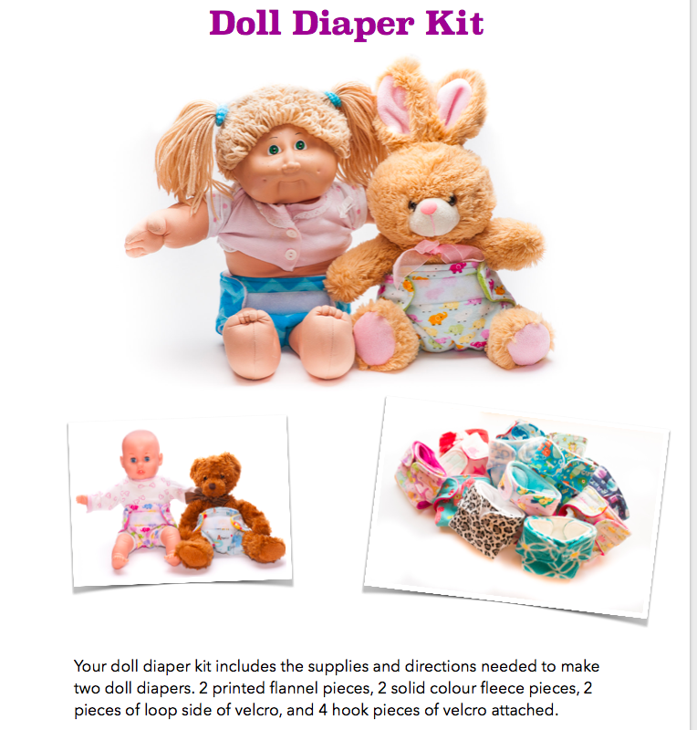 DIY Doll Diaper Sewing Kit