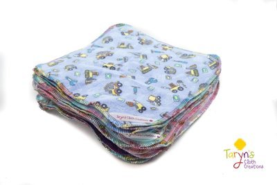 Double Flannel Cloth Wipes
