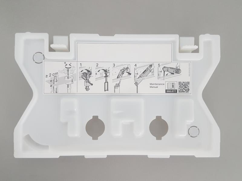 Plaque de protection Geberit  pour réservoir à encastrer Sigma 8 cm