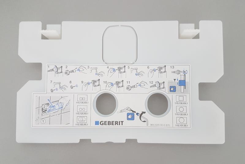 Plaque de protection Geberit pour réservoir à encastrer Delta 8 et 12 cm