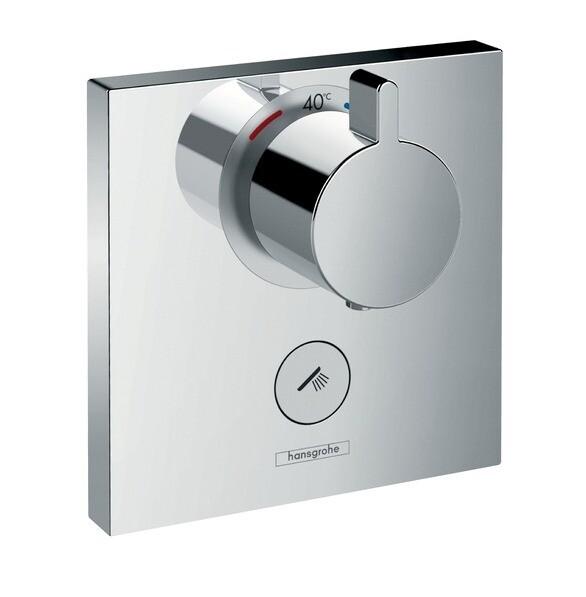Set de finition pour mitigeur thermostatique encastré haut débit ShowerSelect avec une sortie permanente et un robinet d'arrêt