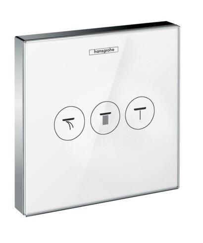 Set de finition en verre ShowerSelect Glass avec robinet d'arrêt pour 3 fonctions