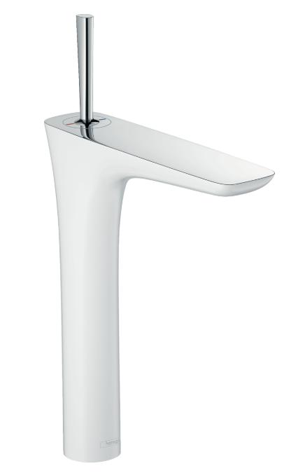 Mitigeur de lavabo PuraVida 240 surélevé pour vasque libre avec flexibles de raccordement 900 mm, bonde Push-Open