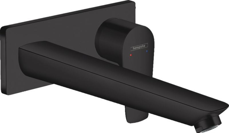 Mitigeur de lavabo encastré Hansgrohe Talis E avec bec de 225 mm en noir mat