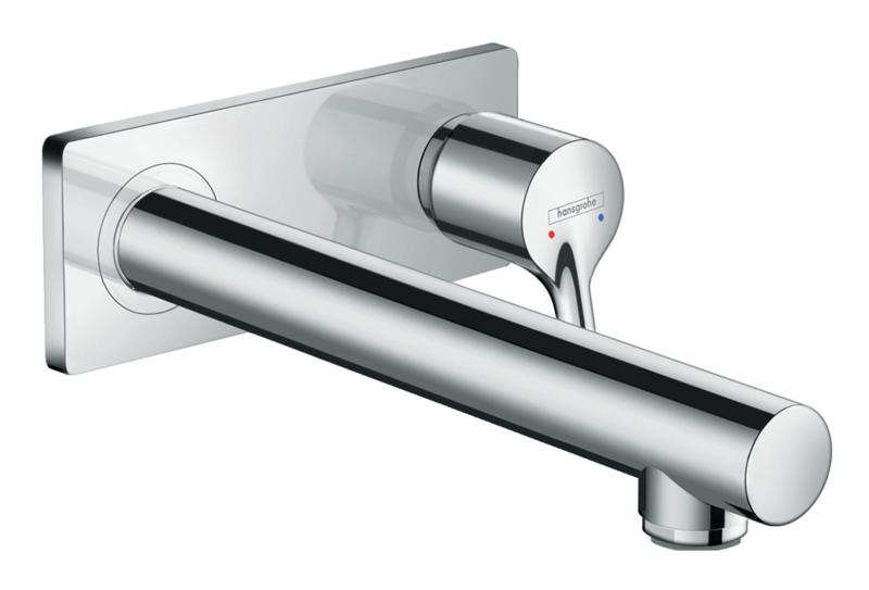 Mitigeur de lavabo encastré Hansgrohe Talis S bec 225 mm en laiton chromé