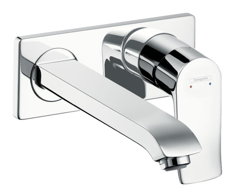 Mitigeur de lavabo encastré Hansgrohe Metris bec 225 mm en laiton chromé
