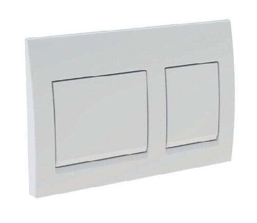 Plaque de déclenchement Alpha15 / Blanc