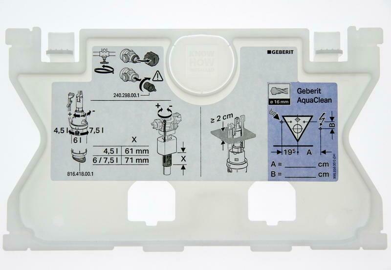 Plaque de protection Geberit pour réservoir à encastrer Sigma 12 cm