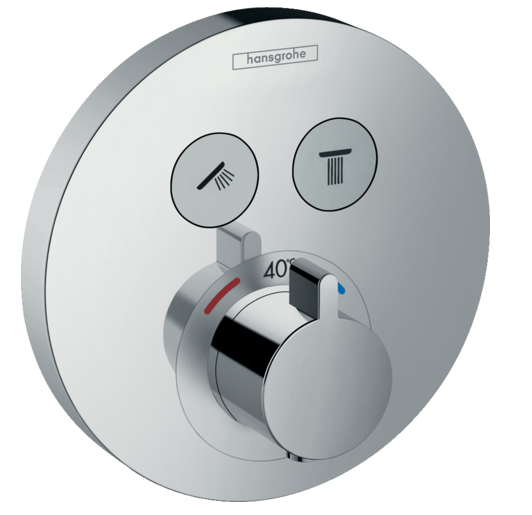 Set de finition pour mitigeur thermostatique encastré ShowerSelect S avec 2 fonctions