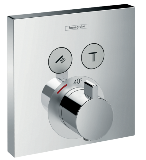 Set de finition pour mitigeur thermostatique encastré ShowerSelect avec 2 fonctions