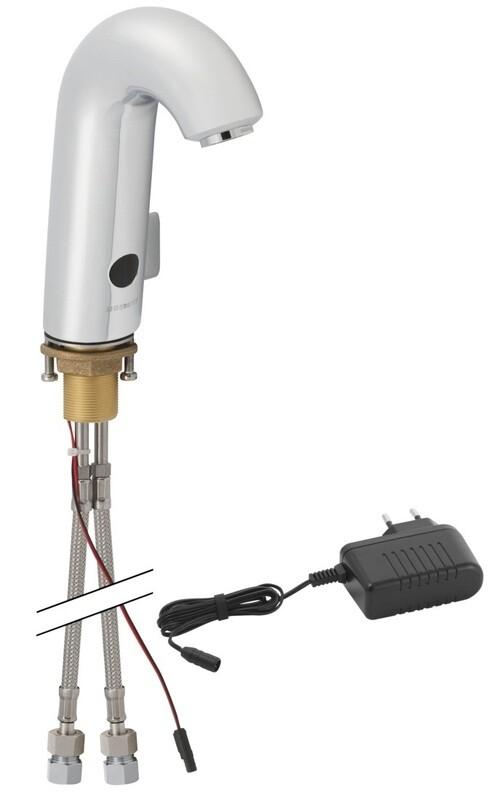 Mitigeur de lavabo Geberit HyTronic 60 avec alimentation sur secteur ou alimentation par pile