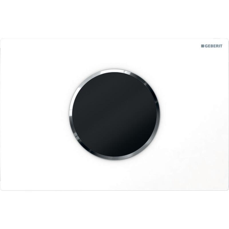 Plaque de déclenchement infrarouge Geberit Sigma10 / Blanc - Chromé brillant
