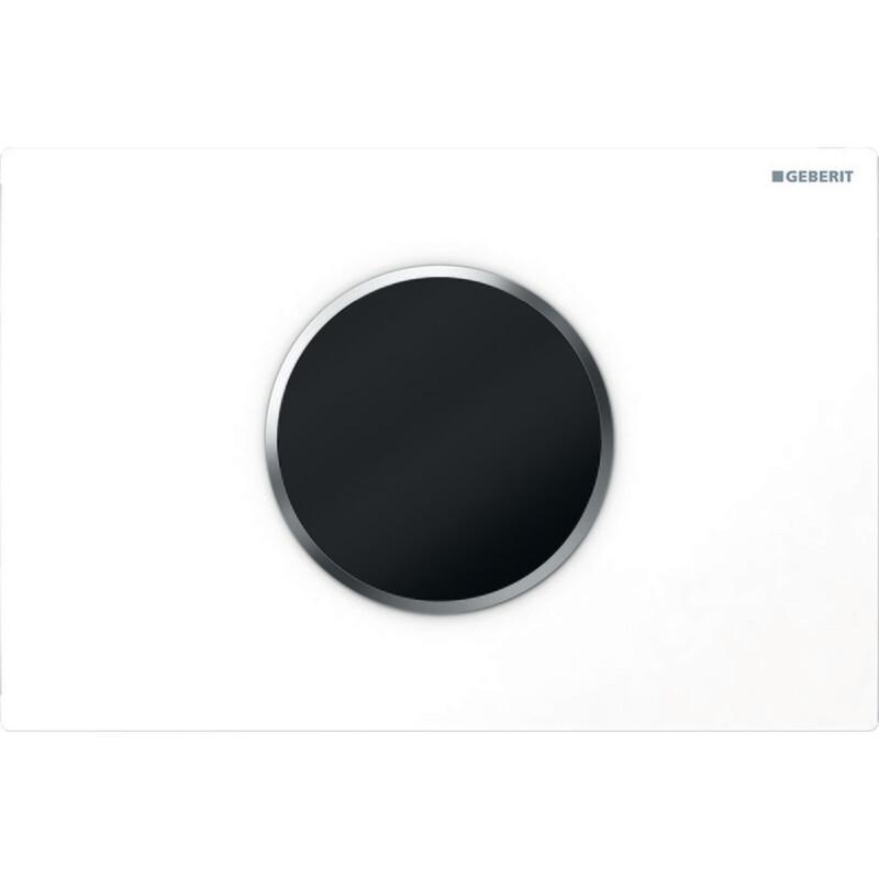 Plaque de déclenchement infrarouge Geberit Sigma10 / Blanc - Chromé mat
