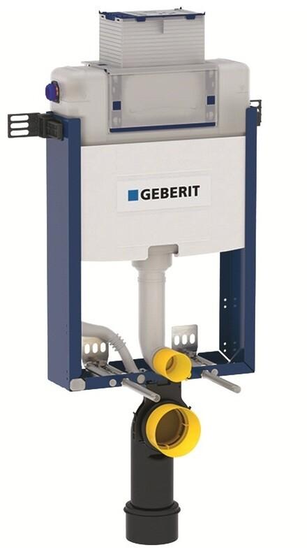 Bâti-support Geberit Combifix Omega 12 cm avec déclenchement par le haut (hauteur : 98 cm), pour montage dans parois maçonnées