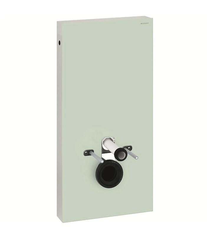 Panneau sanitaire Geberit Monolith pour WC suspendu, 101 cm / Verre menthe