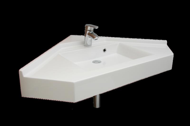 Plan-vasque d'angle Moorea 75 cm