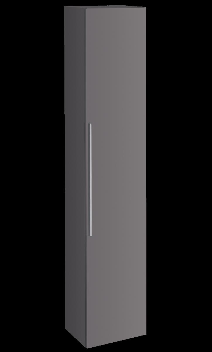 Armoire haute Keramag iCon 180 cm en platine laqué ultra-brillant