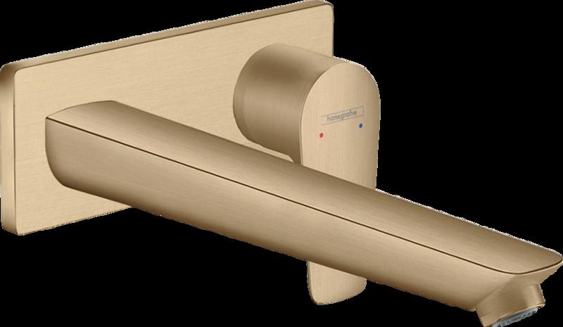 Mitigeur de lavabo encastré Hansgrohe Talis E avec bec de 225 mm en bronze brossé