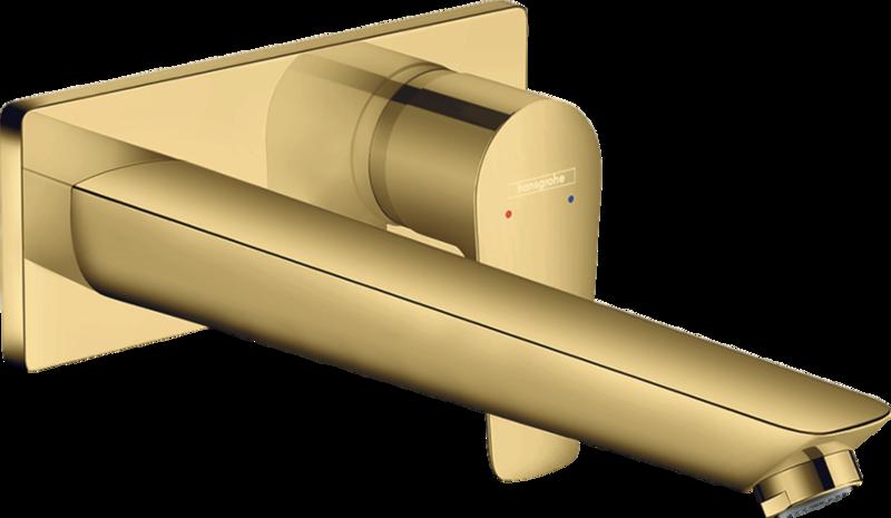 Mitigeur de lavabo encastré Hansgrohe Talis E avec bec de 225 mm aspect doré poli