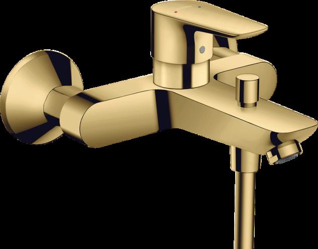 Mitigeur de bain / douche Hansgrohe Talis E aspect doré poli