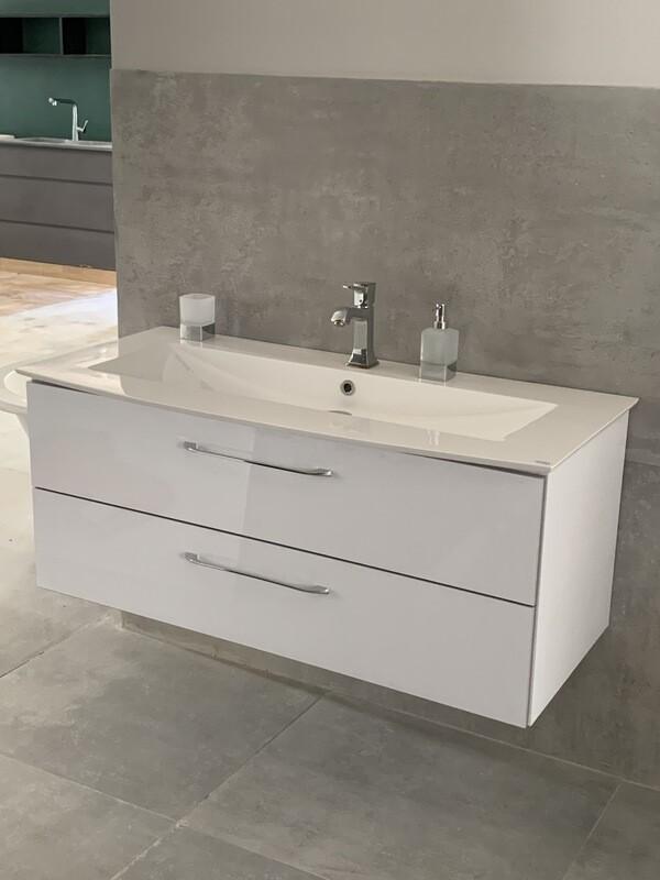 Meuble High Gloss Lido 122 cm - couleur : blanc