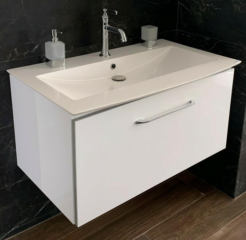 Meuble High Gloss Lido 92 cm - couleur : blanc