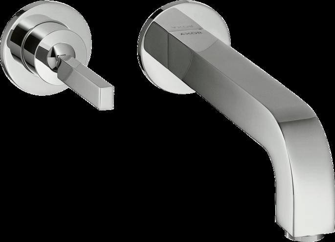 Mitigeur de lavabo encastré AXOR Citterio 225 mm avec rosace et bonde à écoulement libre