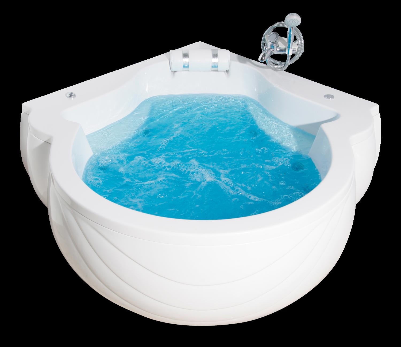 Baignoire Elysée hydro-massage simple avec repose-tête intégré