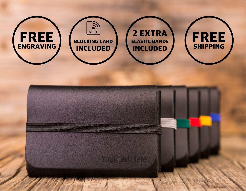 SINGULAR LEATHER™ Wallet - color: BLACK
