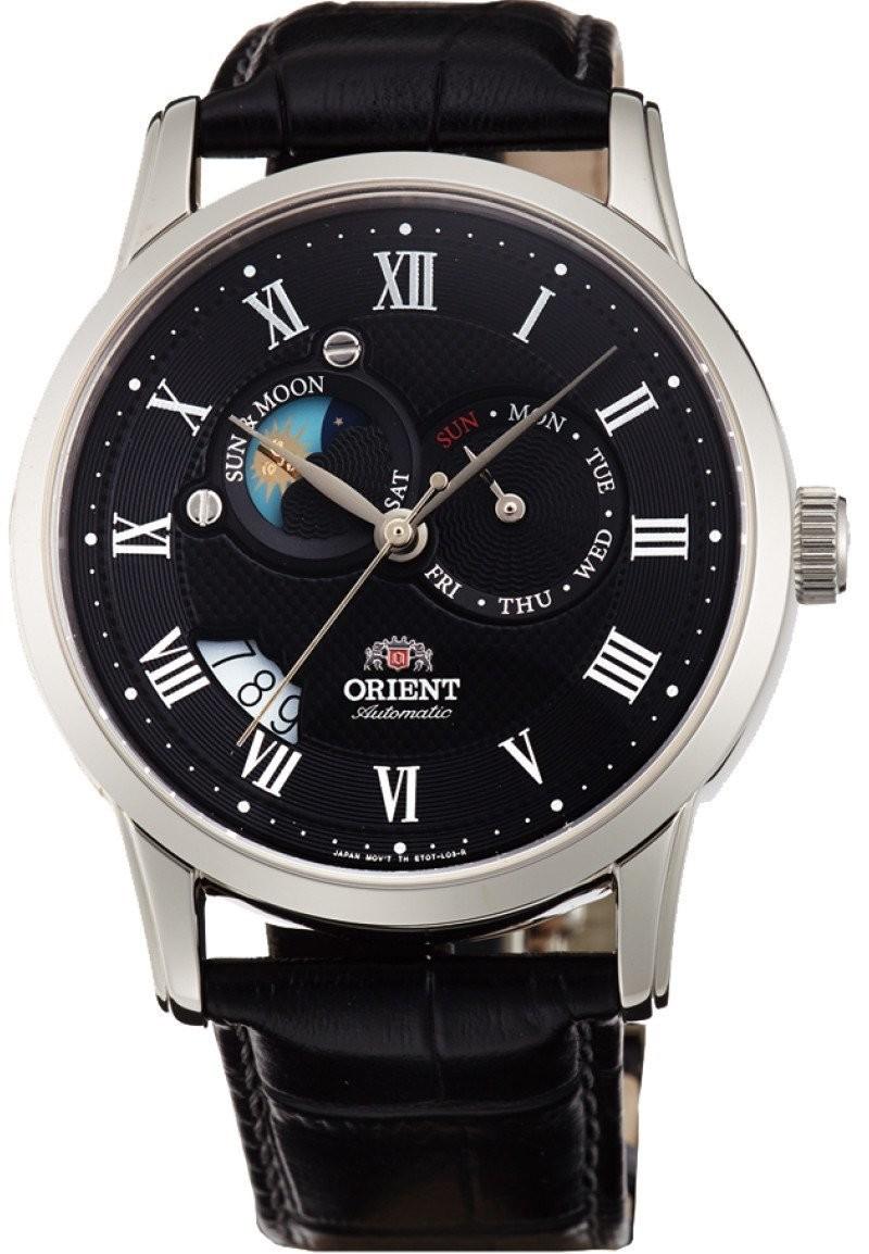 Reloj Orient  automático FET0T002B Executive Sun and Moon