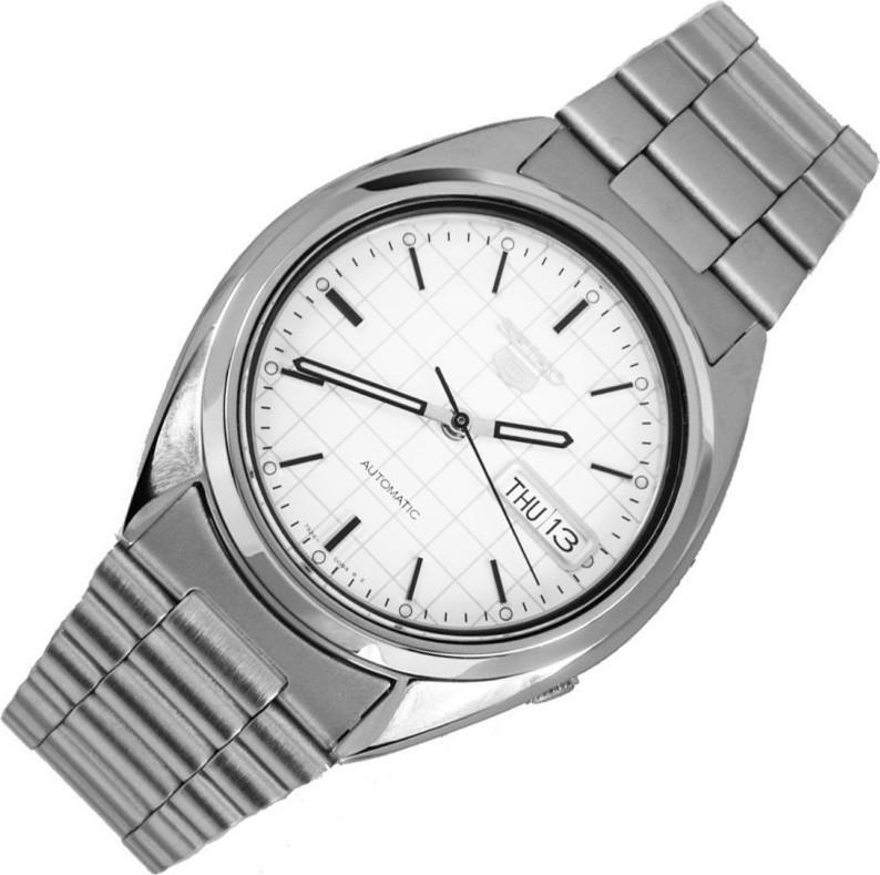 Reloj hombre automático Seiko SNXF05K1 Seiko 5 clásico acero 21 joyas