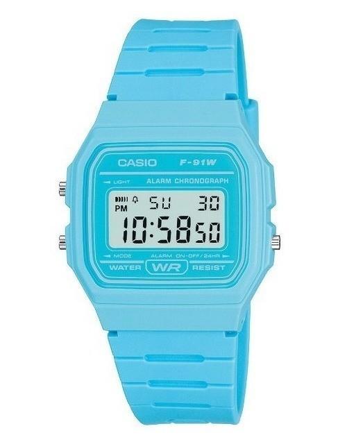 RELOJ digital Casio Azul Cielo F-91WC-2A UNISEX CASIO