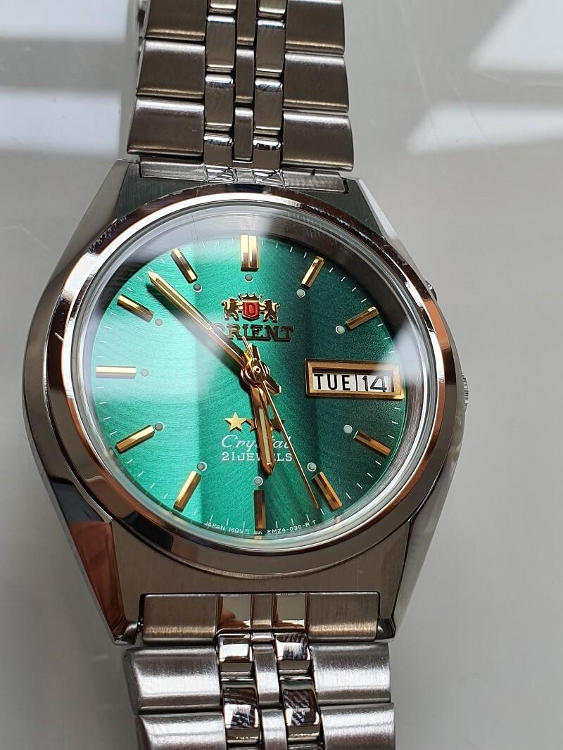 Reloj hombre automático Orient 3 Star FEM0501PF VERDE correa acero