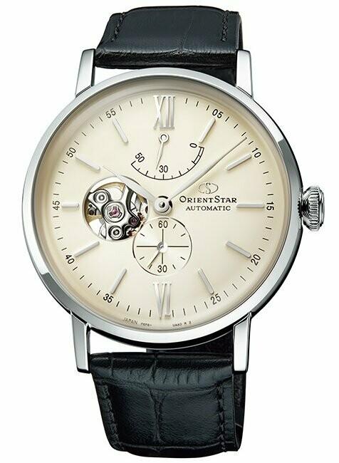 Reloj Automático Hombre Orient Star RE-AV0002S Open Heart cuero cristal zafiro