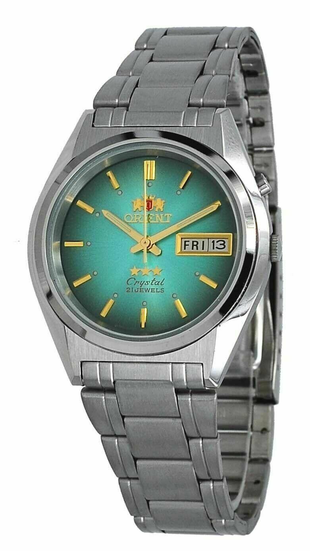 reloj hombre automático Orient Tristar FEM0501LF verde acero