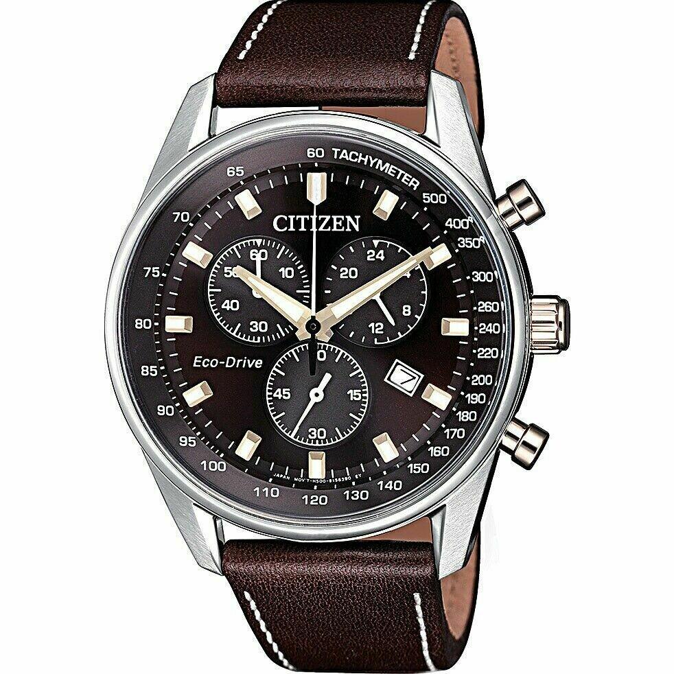 Reloj Hombre Citizen Eco-Drive AT2396-27X Men Brown Dial 40 mm Watch