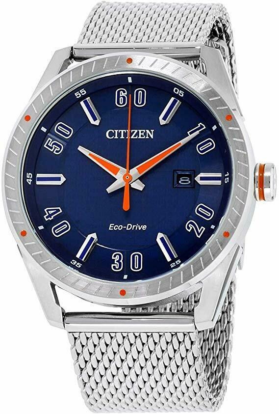 Reloj Hombre Citizen Eco-Drive BM6990-55L CTO Men's Blue Dial Mesh Bracelet 42mm Watch
