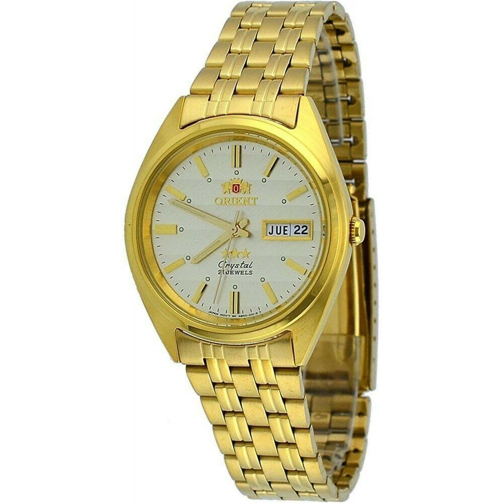 Reloj Automático Hombre Orient Tristar FAB00008C dorado acero
