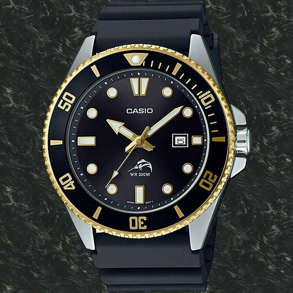 Reloj Hombre Buceo Casio MDV-106G-1A MARLIN DURO correa goma