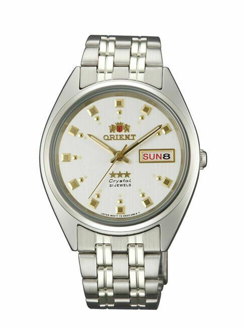 Reloj Hombre Automático Orient 3 Star FAB00009W correa acero