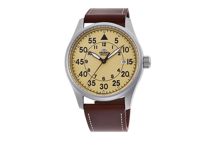 Reloj Automático Hombre Orient Pilot RA-AC0H04Y 42.4mm correa cuero