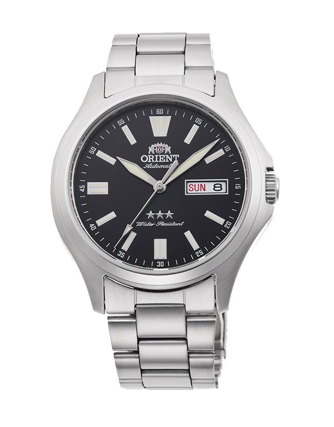 Reloj Automático Hombre Orient TriStar RA-AB0F07B dial negro correa acero