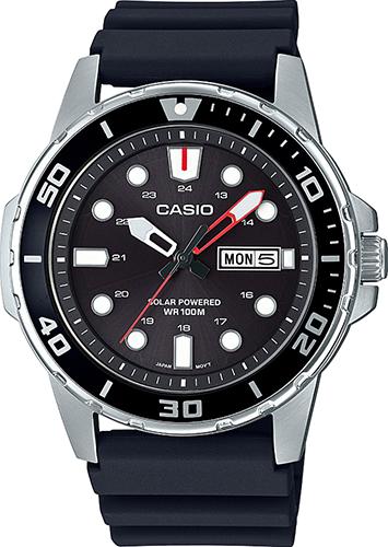 Reloj Buceo Hombre Casio SOLAR MTP-S110-1AV correa goma Casio DIVERS Solar watch nylon band